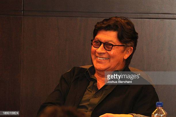 """Robbie Robertson answers questions at the book signing for """"Legends, ICONS And Rebels"""" at Barnes & Noble bookstore at The Grove on October 16, 2013..."""