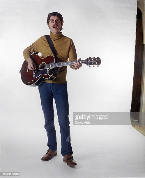 Robbie Robertson of the roots rock group The Band poses for a portrait in 1969 in Saugerties New York