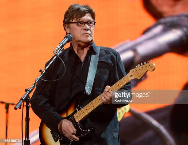Robbie Robertson performs on stage during the 2013 Crossroads Guitar Festival at Madison Square Garden on April 13 2013 in New York City