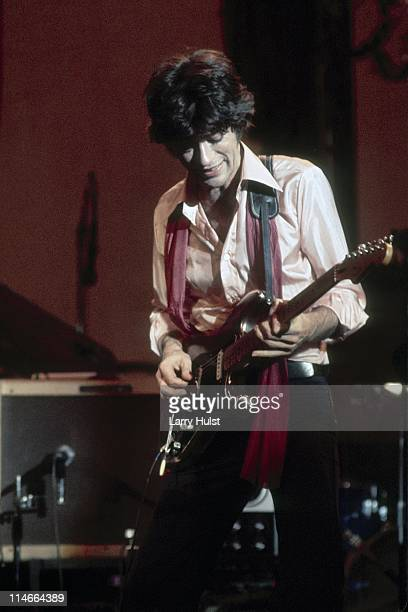 Robbie Robertson performs with 'the Band' at Winterland Arena in San Francisco California on November 25 1976