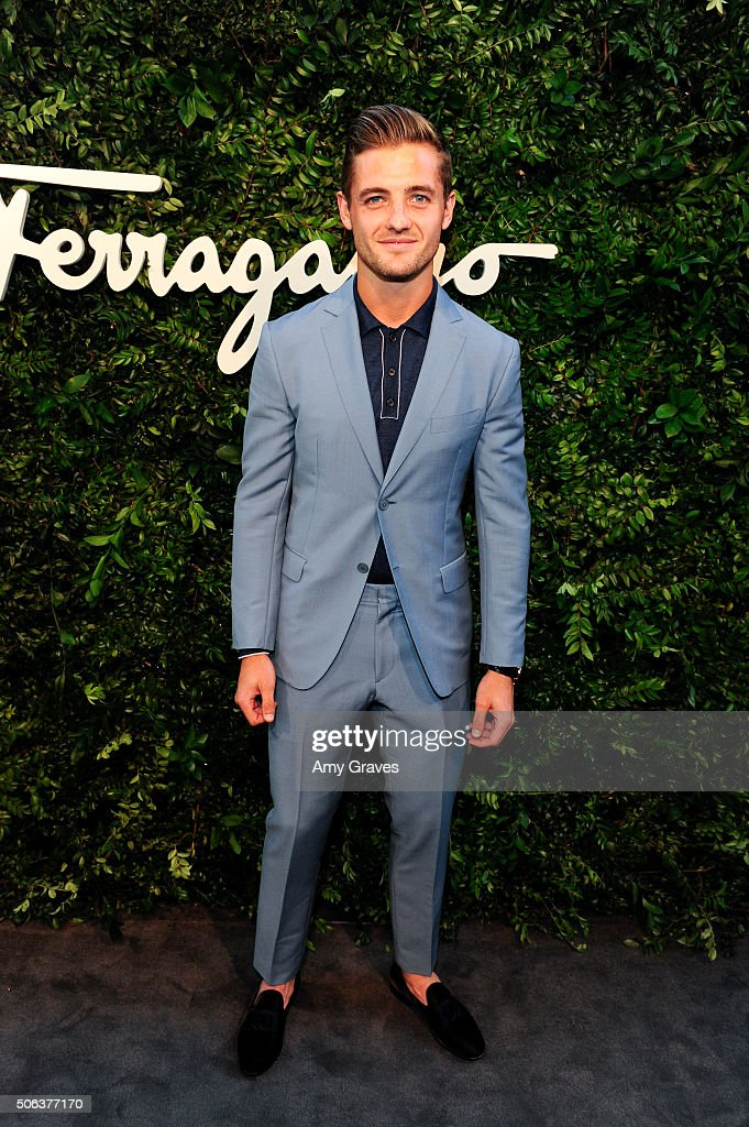 Robbie Rogers attends the Salvatore Ferragamo 100th Year Celebration in Hollywood and Rodeo Drive Flagship Store Opening on September 9, 2015 in Beverly Hills, California.