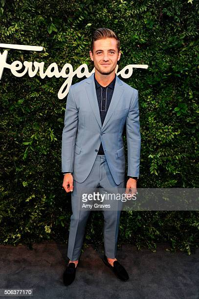 Robbie Rogers attends the Salvatore Ferragamo 100th Year Celebration in Hollywood and Rodeo Drive Flagship Store Opening on September 9 2015 in...