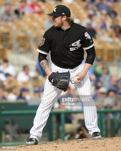 Robbie Ross Jr #23 of the Chicago White Sox pitches against the Chicago Cubs on March 17 2018 at Camelback Ranch in Glendale Arizona