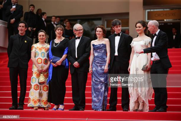 Robbie Ryan guest Rebecca O'Brien director Ken Loach Simone Kirby Barry Ward Aisling Franciosi and Paul Laverty attend the Jimmy's Hall premiere...