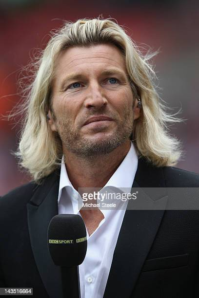 Robbie Savage ex footballer and BBC football commentator during the npower Championship match between Southampton and Coventry City at St Mary's...