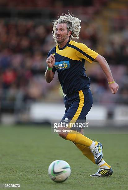 Robbie Savage in action during the William Hill Foundation Cup Celebrity Charity Challenge Match at Sixfields on December 9 2012 in Northampton...