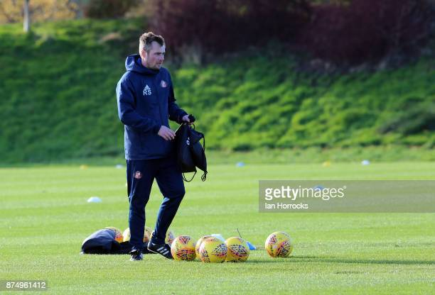 Robbie Stockdale during a Sunderland AFC training session at The Academy of Light on November 16 2017 in Sunderland England