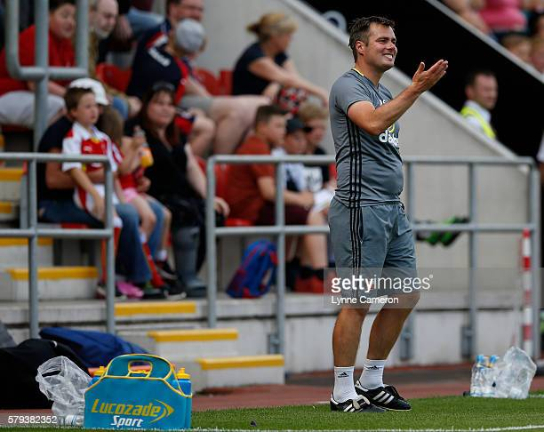 Robbie Stockdale first team coach of Sunderland during the PreSeason Friendly match between Rotherham United and Sunderland at the AESSEAL New York...