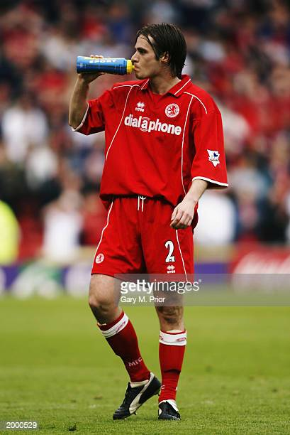 Robbie Stockdale of Middlesbrough enjoys a drink of Lucozade Sport during the FA Barclaycard Premiership match between Middlesbrough and Tottenham...
