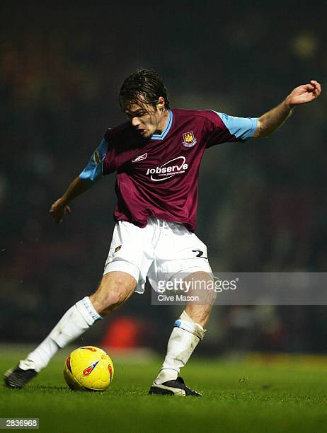 Robbie Stockdale of West Ham United passes the ball during the Nationwide League Division One match between West Ham United and Stoke City held on...