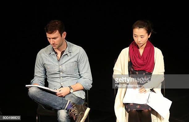 Robbie Sublett and Annie Q attend Sundance Institute's 'Little Woods' screenplay reading at 14th Street Y on December 8 2015 in New York City