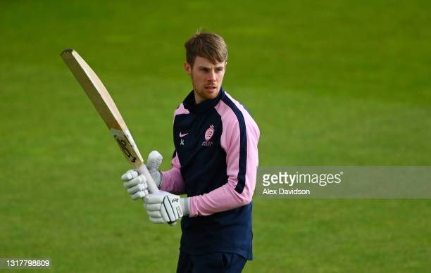 Robbie White of Middlesex warms up prior to Day One of the LV= Insurance County Championship match between Middlesex and Hampshire at Lord's Cricket...