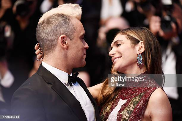 Robbie Williams and Ayda Field attend the Premiere of The Sea Of Trees during the 68th annual Cannes Film Festival on May 16 2015 in Cannes France