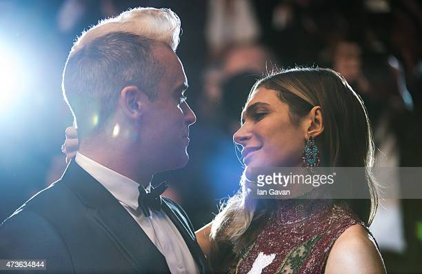 Robbie Williams and Ayda Field attend The Sea Of Trees Premiere during the 68th annual Cannes Film Festival on May 16 2015 in Cannes France