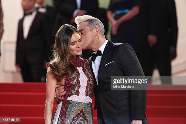 Robbie Williams and Ayda Field attend 'The Sea Of Trees' Premiere during the 68th annual Cannes Film Festival on May 16 2015 in Cannes France