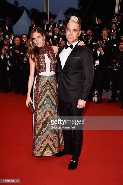 Robbie Williams and Ayda Field attends 'The Sea Of Trees' Premiere during the 68th annual Cannes Film Festival on May 16 2015 in Cannes France