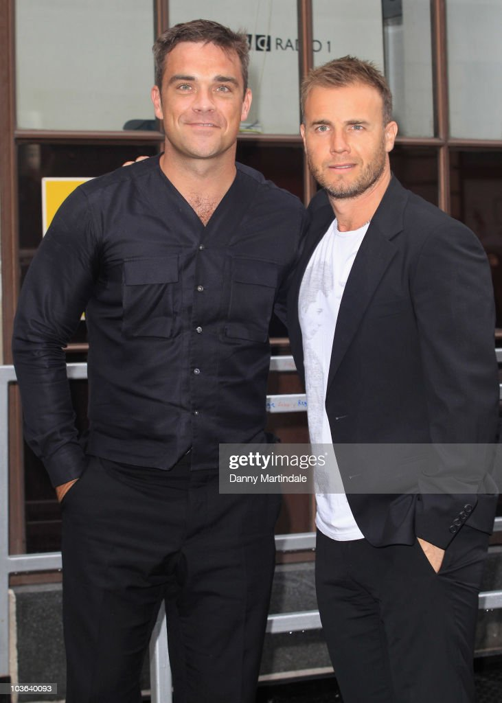 Robbie Williams and Gary Barlow Visit Radio 1