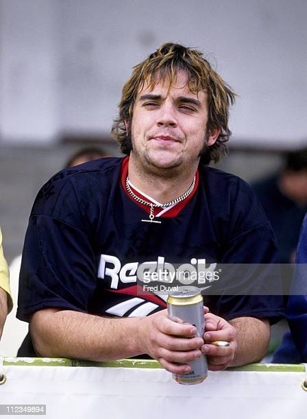 Robbie Williams at a Charity Soccer Match May 1996