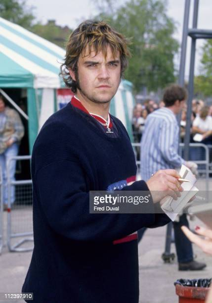 Robbie Williams at Charity Soccer Match 21st May 1996