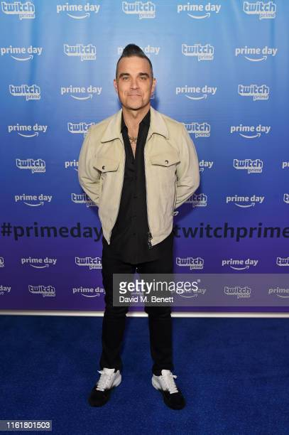 Robbie Williams at the Twitch Prime Crown Cup at the Gfinity Esports Arena July 13 2019 in London England The event was streamed live at...
