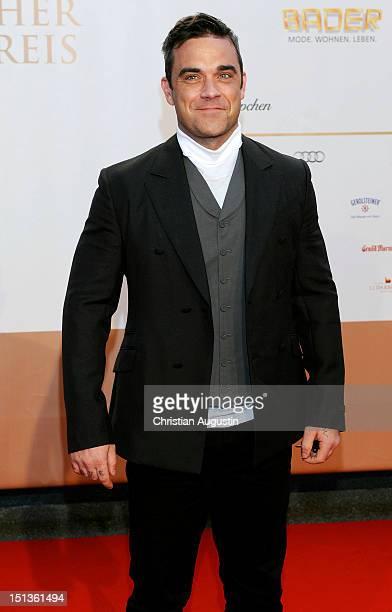 Robbie Williams attends Deutscher Radiopreis 2012 at 'Schuppen 52' on September 6 2012 in Hamburg Germany