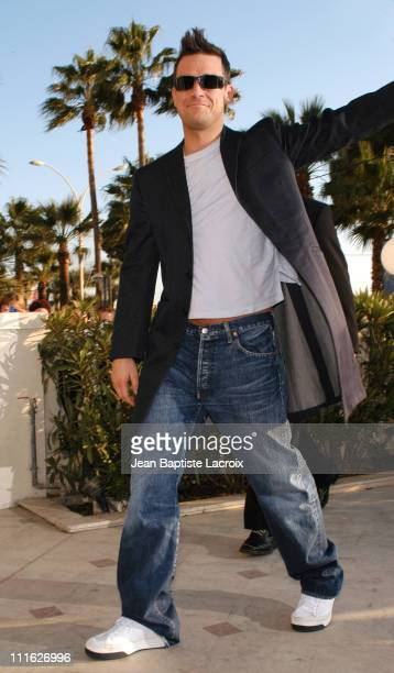 Robbie Williams during MIDEM 2003 Robbie Williams Photocall at Palais Des Festivals in Cannes France