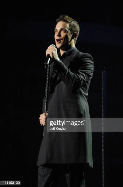 Robbie Williams during MTV European Music Awards 2002 MTV European Music Awards 2002 at Palau Sant Jordi in Barcelona, Spain.