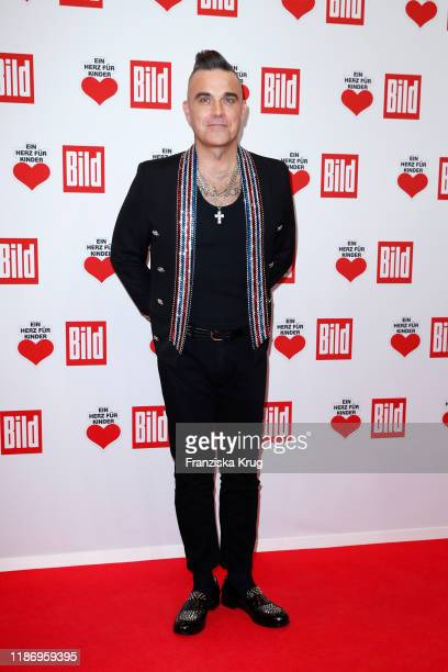 Robbie Williams during the Ein Herz Fuer Kinder Gala at Studio Berlin Adlershof on December 7, 2019 in Berlin, Germany.