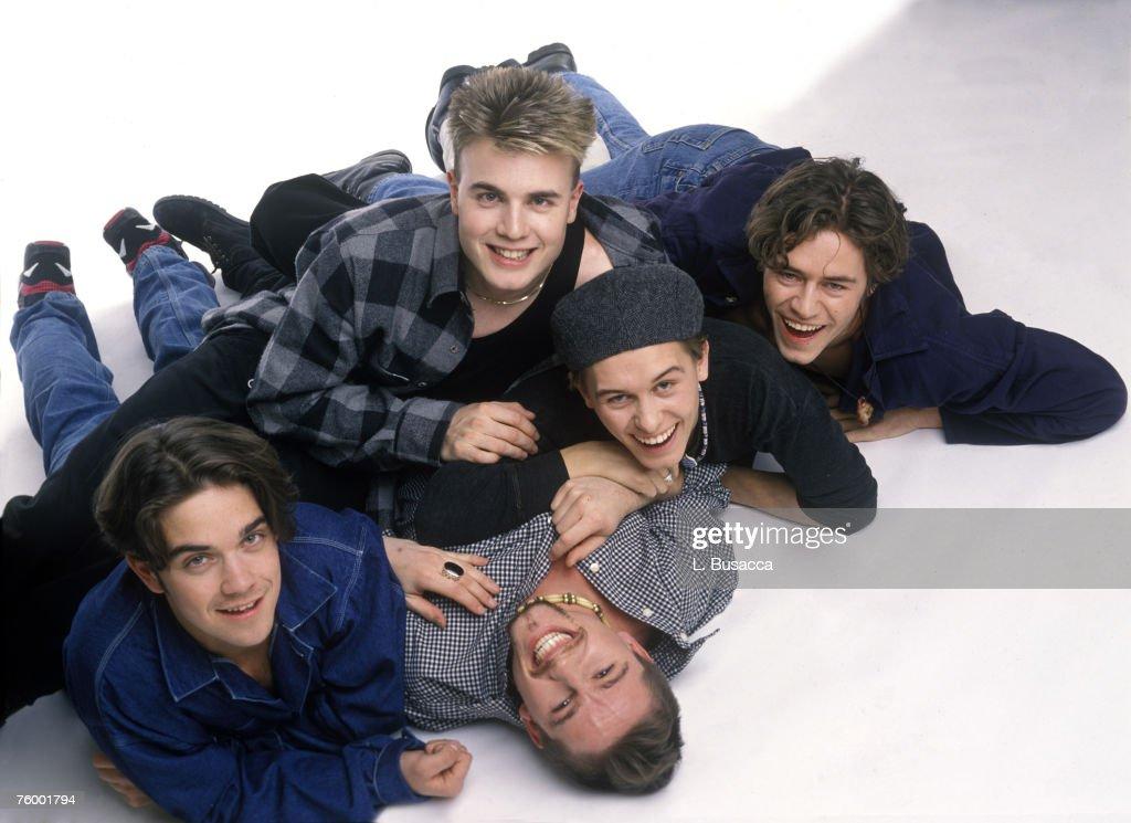 Robbie Williams, Gary Barlow, Howard Donald, Mark Owen and Jason Orange of Take That