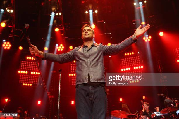 Robbie Williams kicks off his comeback with a gig as part of BBC's Electric Proms festival inspired by its classical summer Proms series held at The...
