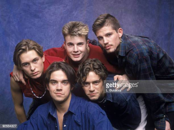 Robbie Williams Mark Owen Gary Barlow Jason Orange and Howard Donald of Take That