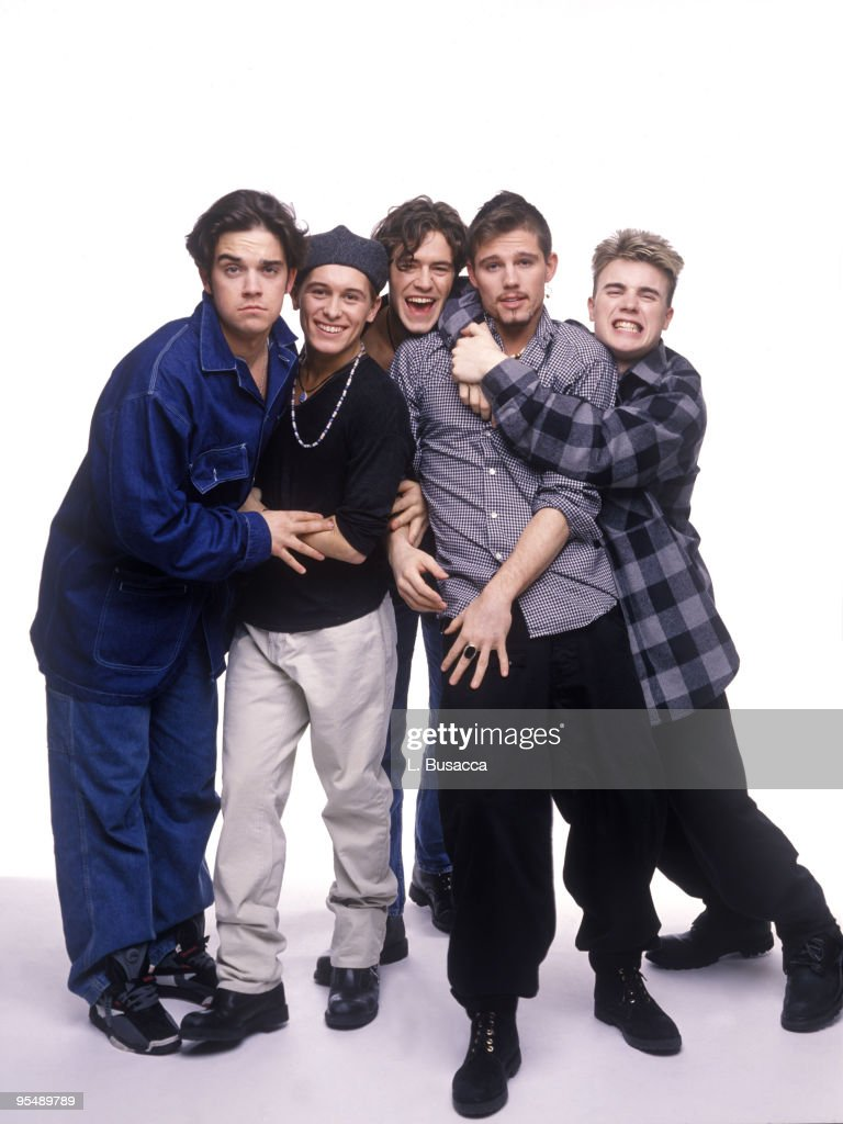 Robbie Williams, Mark Owen, Howard Donald, Jason Orange and Gary Barlow of Take That