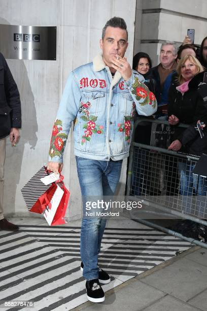 Robbie Williams seen at BBC Radio 2 on December 8 2017 in London England