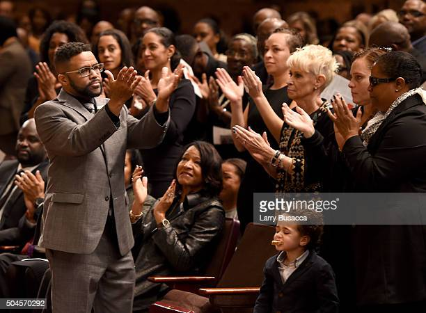 Robbie Yancy attends a Celebration Of Natalie Cole's Life at the West Angeles Church of God in Christ on January 11 2016 in Los Angeles California