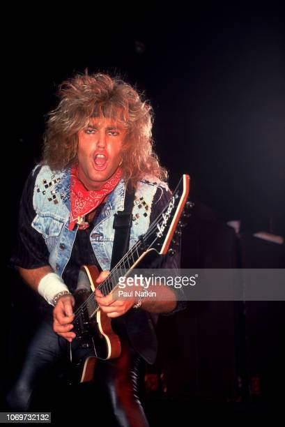 Robbin Crosby of RATT performs on stage at the Rosemont Horizon in Rosemont Illinois September 21 1985