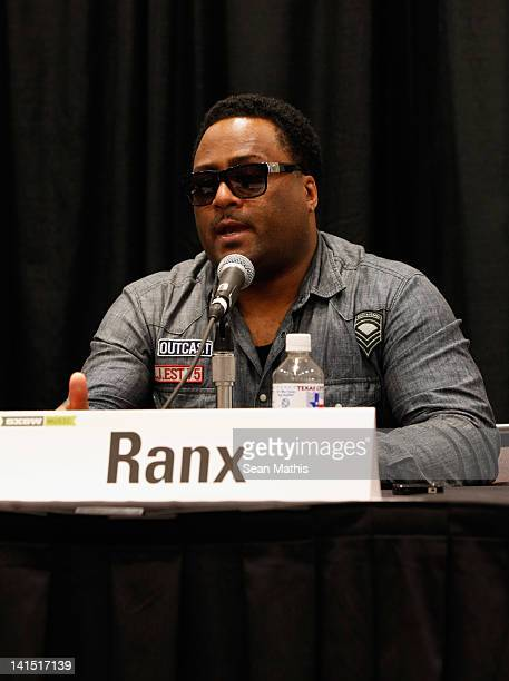 DJ Robbo Ranx speaks onstage at Bass Culture The Influence of Reggae Music in Britain and Beyond during the 2012 SXSW Music Film Interactive Festival...