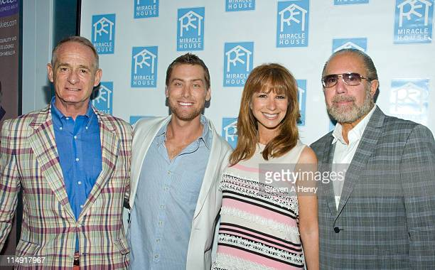 Robby Browne Lance Bass Jill Zarin and Bobby Zarin attends Miracle House's 21st annual summer kickoff at Bridgehampton Tennis and Surf Club on May 28...