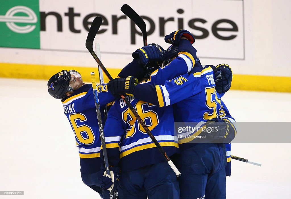 San Jose Sharks v St Louis Blues - Game Five : News Photo