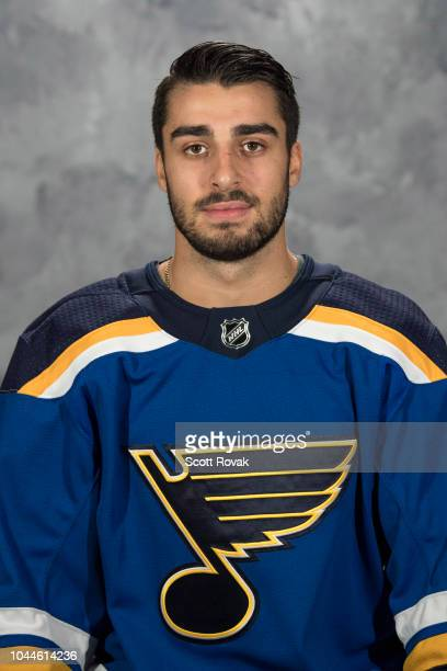 Robby Fabbri of the St Louis Blues poses for his official headshot for the 20182019 season on September 13 2018 in St Louis Missouri
