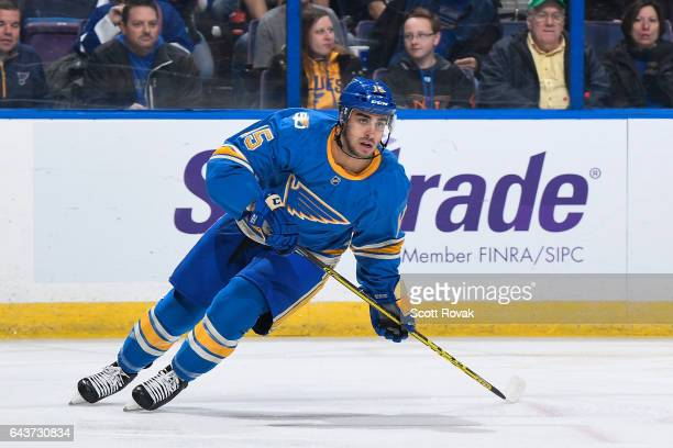 Robby Fabbri of the St Louis Blues skates against the Toronto Maple Leafs on February 2 2017 at Scottrade Center in St Louis Missouri