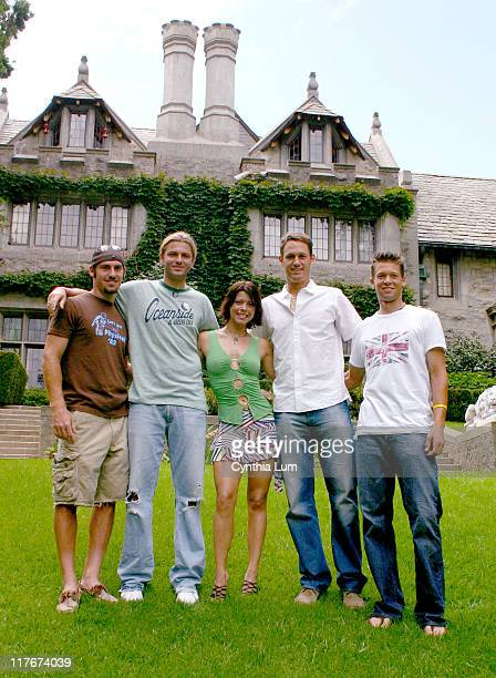 Robby Ginepri, Mardy Fish, Playboy Playmate Angel, Graydon Oliver, Travis Parrott. Mercedes-Benz Cup players visit playboy mansion in Bel Air.