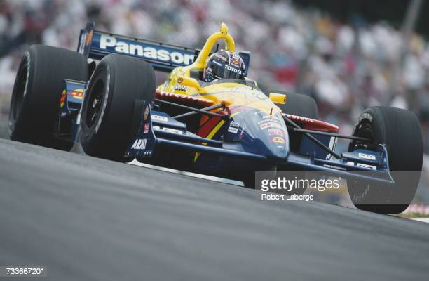 Robby Gordon of the United States drives the Team Gordon Swift 010c Toyota during the Championship Auto Racing Teams 1999 FedEx Championship Series...
