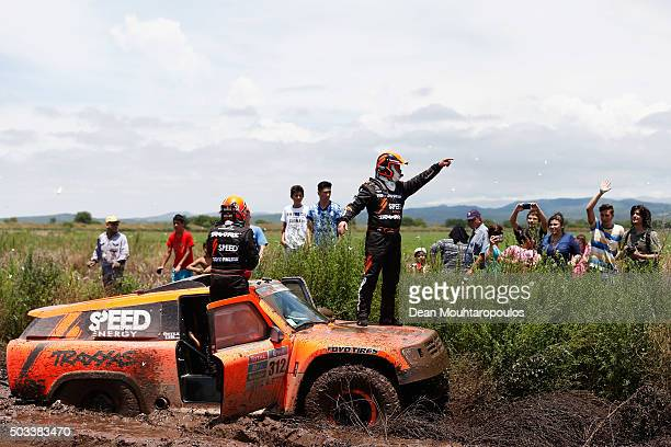 Robby Gordon of the United States of America and Kellon Walch of the United States of America in the GORDINI SC1 for TEAM SPEED ENERGY give...