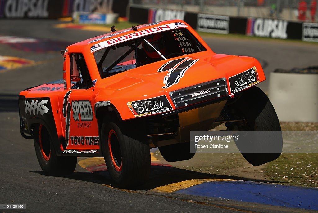 Robby Gordon of the USA competes during the Stadium Super Trucks Series ahead of the V8 Supercars Clipsal 500 at Adelaide Street Circuit on February 26, 2015 in Adelaide, Australia.