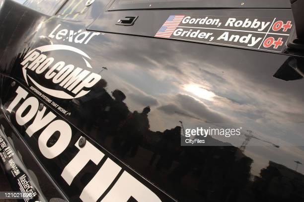 Robby Gordon of USA Team Gordon during day three of administrative and technical scrutineering at the 2007 LisbonDakar Rally in the car park of the...