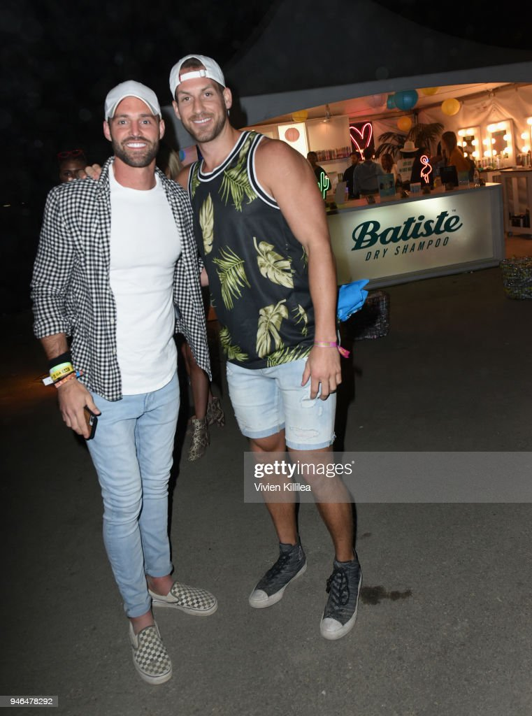 Robby Hayes (L) and Chase McNary attend The Levi's Brand Presents NEON CARNIVAL with Tequila Don Julio on April 14, 2018 in Thermal, California.