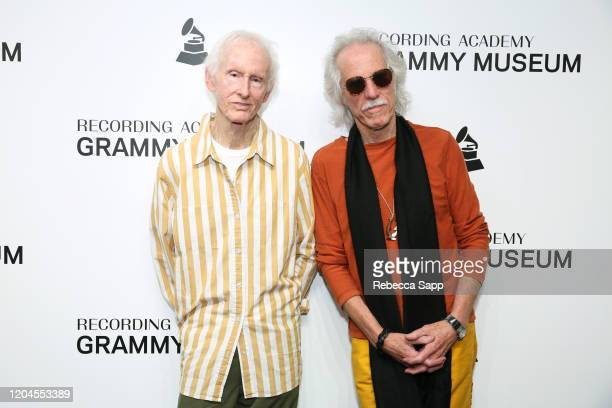 Robby Krieger and John Densmore attend Reel To Reel The Doors Break On Thru – A Celebration Of Ray Manzarek at the GRAMMY Museum on February 06 2020...