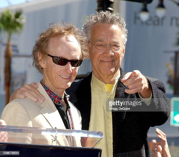 Robby Krieger and Ray Manzarek of The Doors during The Doors Celebrate 40th Anniversary with a Star on the Hollywood Walk of Fame at Hollywood Blvd....