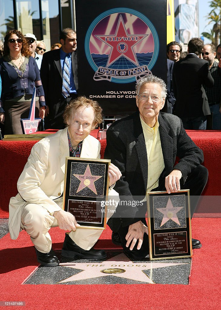 The Doors Celebrate 40th Anniversary with Star on the Hollywood Walk of Fame