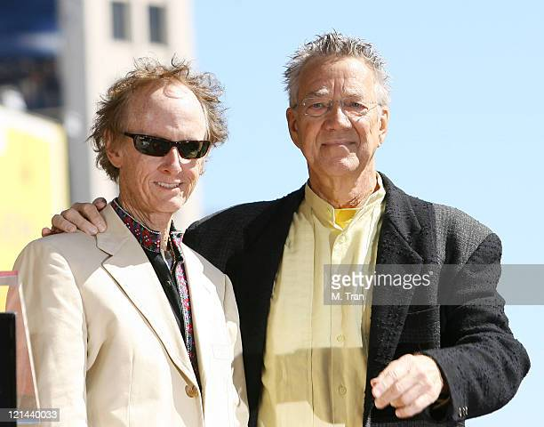 Robby Krieger and Ray Manzarek of The Doors during The Doors Celebrate 40th Anniversary with Star on the Hollywood Walk of Fame at 6901 Hollywood...